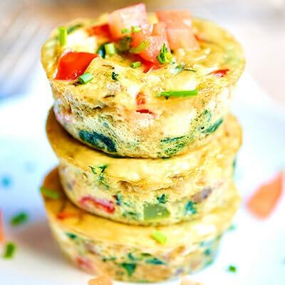 Frittatine al forno con verdure